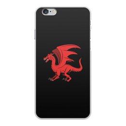 """Чехол для iPhone 6 Plus, объёмная печать """"дракон"""" - крылья, животные, дракон, dragon, динозавр"""