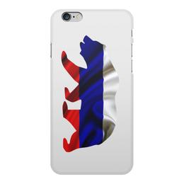 """Чехол для iPhone 6 Plus, объёмная печать """"Русский Медведь"""" - bear, медведь, русский, флаг, russian"""