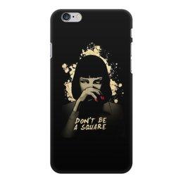 "Чехол для iPhone 6 Plus, объёмная печать ""Pulp Fiction (Ума Турман)"" - mia, культовое кино, тарантино, криминальное чтиво, ума турман"