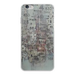 """Чехол для iPhone 6 Plus, объёмная печать """"Цифры"""" - арт, цифры, фактурный"""