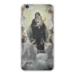 """Чехол для iPhone 6 Plus, объёмная печать """"La Vierge aux anges (картина Вильяма Бугро)"""" - картина, академизм, живопись, христианство, бугро"""