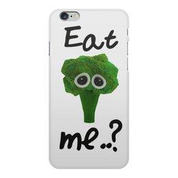 """Чехол для iPhone 6 Plus, объёмная печать """"Eat me..?"""" - еда, мимими, грустный, брокколи, broccoli"""
