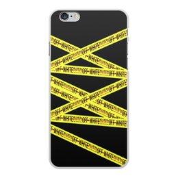 """Чехол для iPhone 6 Plus, объёмная печать """"Off-white"""" - надписи, бренд, brand, off-white, оф вайт"""