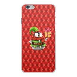 """Чехол для iPhone 6 Plus, объёмная печать """"пингвин"""" - новый год, зима, птицы, подарки, пингвин"""