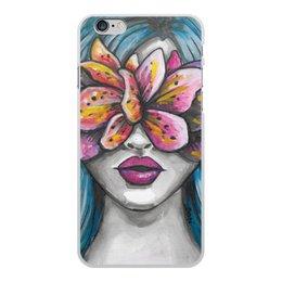 """Чехол для iPhone 6 Plus, объёмная печать """"Весна"""" - праздник, девушка, цветы, 8 марта, весна"""