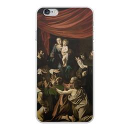 "Чехол для iPhone 6 Plus, объёмная печать ""Мадонна с чётками (Караваджо)"" - картина, караваджо, живопись"