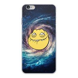 """Чехол для iPhone 6 Plus, объёмная печать """"космос mem"""" - мем, смешные, лицо, космос, mem"""