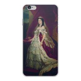 """Чехол для iPhone 6 Plus, объёмная печать """"Портрет германской императрицы Августы"""" - картина, портрет, живопись, винтерхальтер, пруссия"""