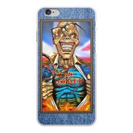 "Чехол для iPhone 6 Plus, объёмная печать ""Iron Maiden patch"" - heavy metal, рок музыка, рок группа, iron maiden, eddie"