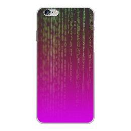 "Чехол для iPhone 6 Plus, объёмная печать ""Матрица"" - компьютеры, матрица, код, программа, пароль"