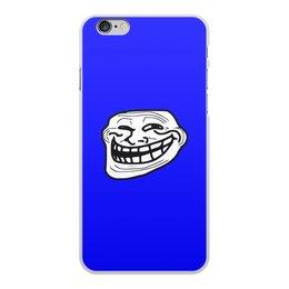 """Чехол для iPhone 6 Plus, объёмная печать """"Mem смех"""" - смех, приколы, лицо, мемы, mem"""