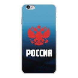 """Чехол для iPhone 6 Plus, объёмная печать """"Россия"""" - россия, герб, russia, орел, флаг"""