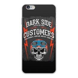 "Чехол для iPhone 6 Plus, объёмная печать ""Dark Side"" - череп, авто, мотоциклы, дарк сайд, dark side customers"