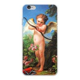 """Чехол для iPhone 6 Plus, объёмная печать """"Амур, стреляющий из лука (Шарль-Андре ван Лоо)"""" - картина, шарль-андре ван лоо"""
