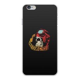 """Чехол для iPhone 6 Plus, объёмная печать """"Motorcycle"""" - череп, мото, скорость, мотоциклы, motorcycle"""