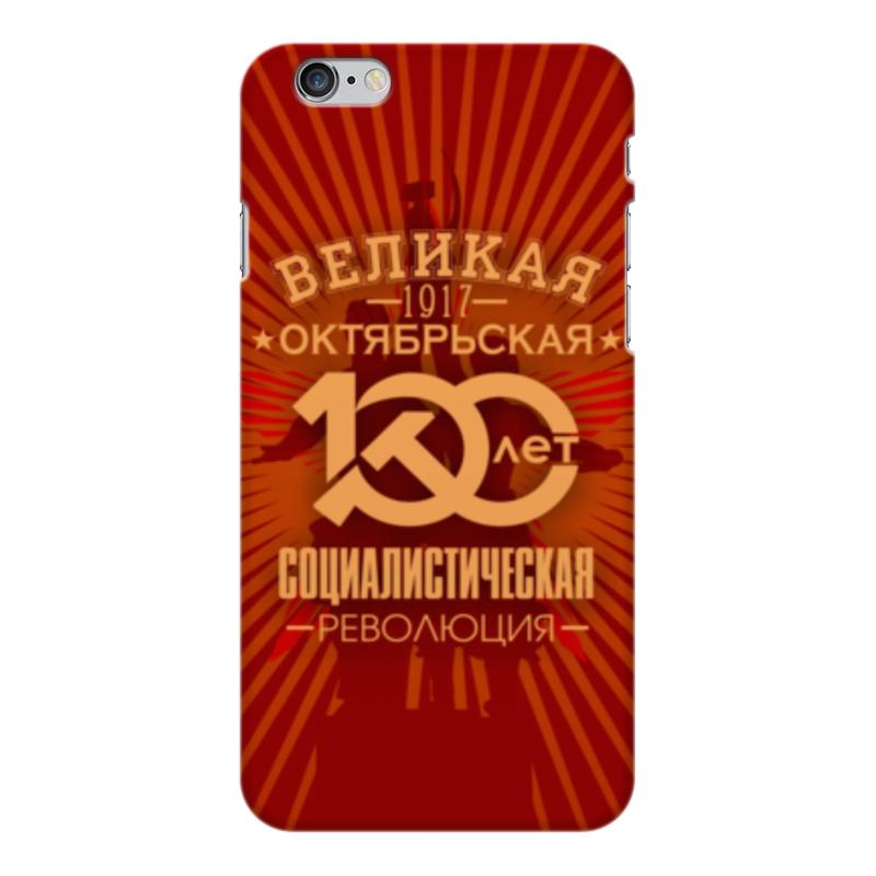 Чехол для iPhone 6 Plus глянцевый Printio Октябрьская революция printio чехол для iphone 6 plus глянцевый