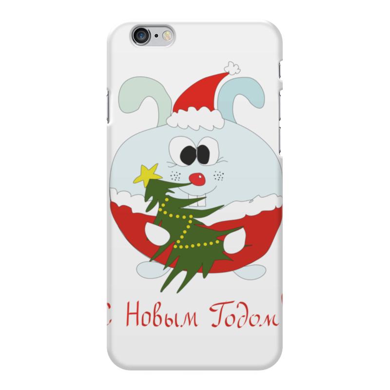 цена Чехол для iPhone 6 Plus глянцевый Printio Новогодний заяц