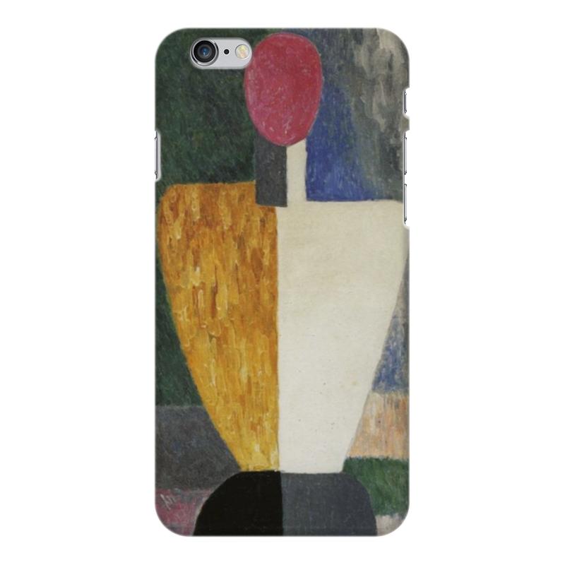 Чехол для iPhone 6 Plus глянцевый Printio Торс (фигура с розовым лицом) (малевич) чехол для samsung galaxy s5 printio торс фигура с розовым лицом малевич