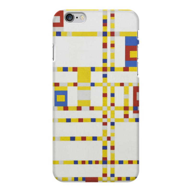 Чехол для iPhone 6 Plus глянцевый Printio Бродвей буги-вуги (питер мондриан) чехол для samsung galaxy s5 printio бродвей буги вуги питер мондриан