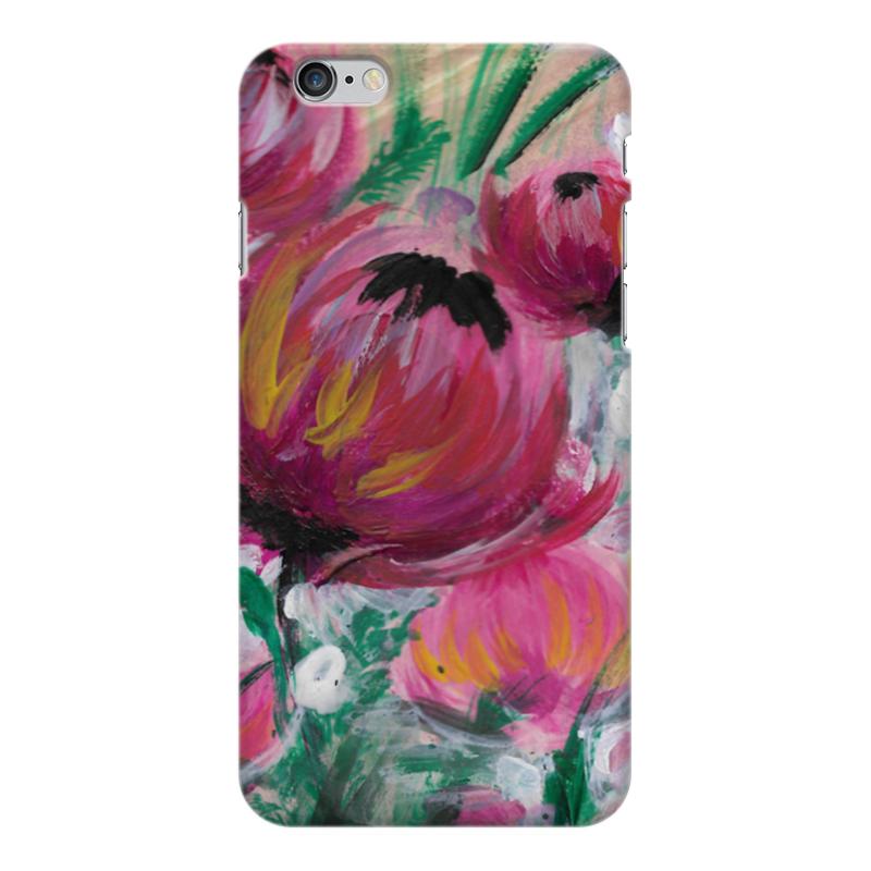 Чехол для iPhone 6 Plus глянцевый Printio Полевые цветы