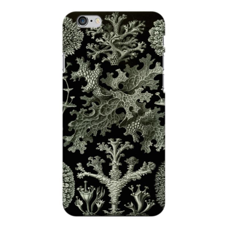Чехол для iPhone 6 Plus глянцевый Printio Лишайники (lichenes, ernst haeckel) чехол для samsung galaxy s7 edge силиконовый printio лишайники lichenes ernst haeckel