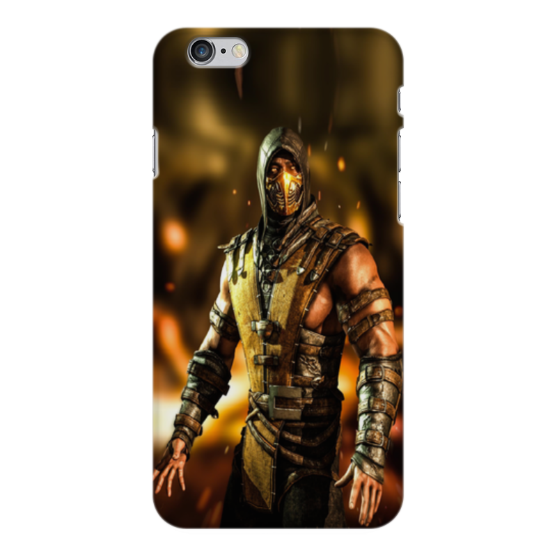 Чехол для iPhone 6 Plus глянцевый Printio Mortal kombat (scorpion) printio чехол для iphone 6 plus глянцевый