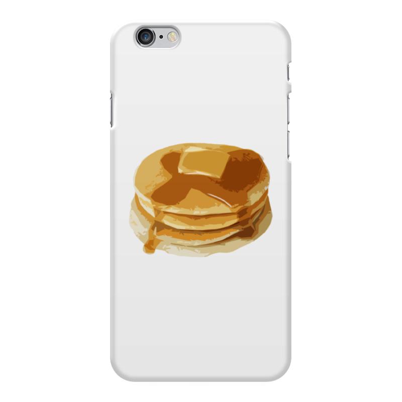 Чехол для iPhone 6 Plus глянцевый Printio Блины с маслом блины и блинчики