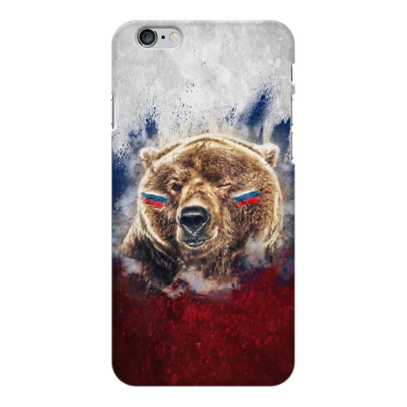 Чехол для iPhone 6 Plus глянцевый Printio Русский медведь чехол для iphone 6 plus глянцевый printio русский хоккей