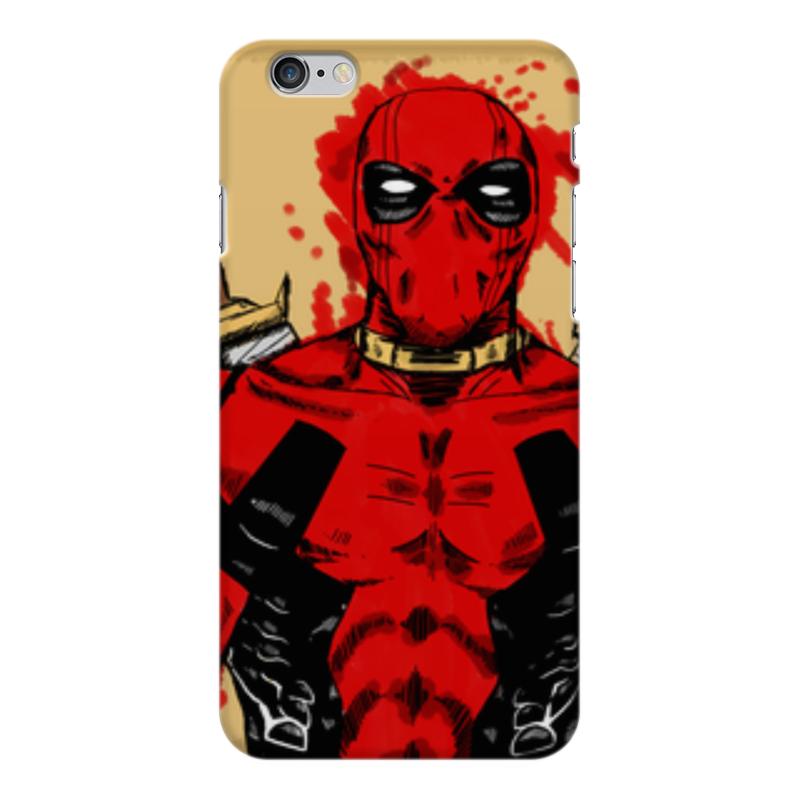 Чехол для iPhone 6 Plus глянцевый Printio Deadpool printio чехол для iphone 6 plus глянцевый