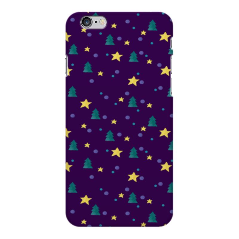 Чехол для iPhone 6 Plus глянцевый Printio Елки и звезды