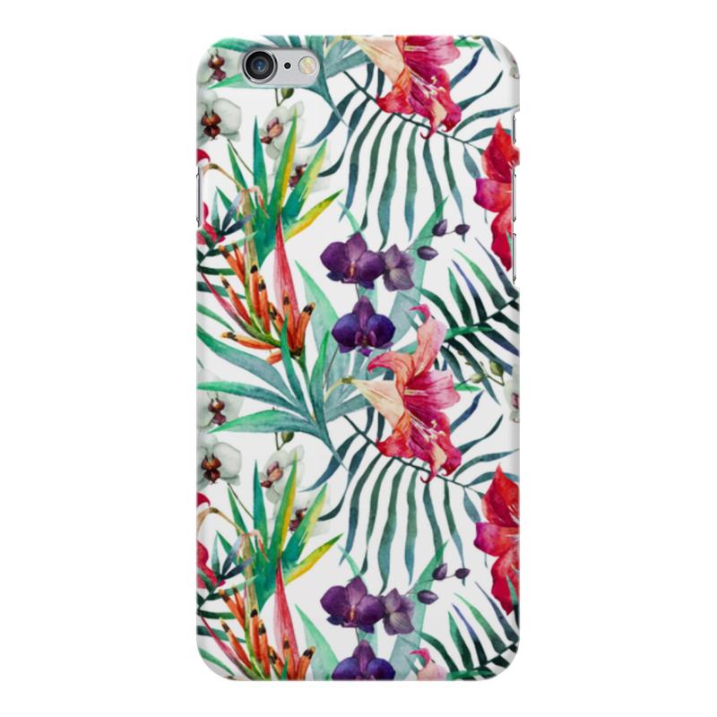 Чехол для iPhone 6 Plus глянцевый Printio Тропические цветы printio чехол для iphone 6 plus глянцевый