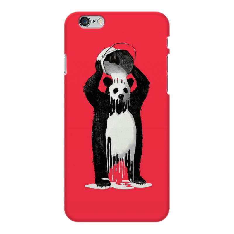 Чехол для iPhone 6 Plus глянцевый Printio Панда в краске позиционеры для сна candide позиционер с подголовником воздухопроницаемая панда air