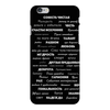 "Чехол для iPhone 6 Plus глянцевый ""Манта для настоящих мужчин (черный вариант)"" - праздник, мужчина, подарок, пожелания, мантра"