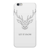 """Чехол для iPhone 6 Plus глянцевый """"Dear Deer"""" - рисунок, дизайн, олень, минимализм, рога"""