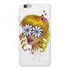 """Чехол для iPhone 6 Plus глянцевый """"Без ума от цветов"""" - любовь, девушка, цветы, сердца, блондинка"""