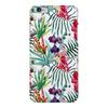 """Чехол для iPhone 6 Plus глянцевый """"Тропические цветы"""" - милый, лето, пальма, орхидея, женственно"""