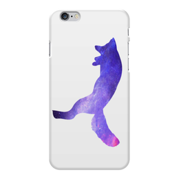 "Чехол для iPhone 6 Plus глянцевый ""Space animals"" - space, космос, fox, лиса, астрономия"