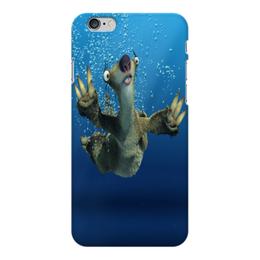 """Чехол для iPhone 6 Plus глянцевый """"Ледниковый период (Сид под водой)"""" - ice age, ленивец, сид, ледниковый период, мультфильм"""