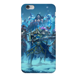 "Чехол для iPhone 6 Plus глянцевый ""Knights Of The Frozen Throne"" - монстры, лед, рыцари, трон, knights frozen throne"