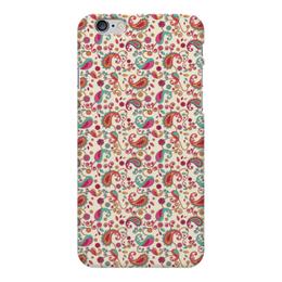 """Чехол для iPhone 6 Plus глянцевый """"Пейсли (Яркий)"""" - пейсли, цветы, цветок, лепесток, лепестки"""