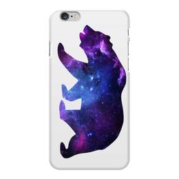 "Чехол для iPhone 6 Plus глянцевый ""Space animals"" - space, bear, медведь, космос, астрономия"