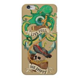 """Чехол для iPhone 6 Plus глянцевый """"Осьминог"""" - татуировка, якорь, пират, old school, череп"""