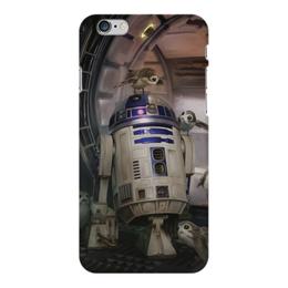 "Чехол для iPhone 6 Plus глянцевый ""Звездные войны - R2-D2"" - звездные войны, фантастика, кино, дарт вейдер, star wars"