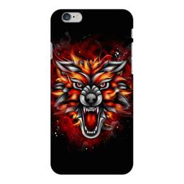 """Чехол для iPhone 6 Plus глянцевый """"Wolf & Fire"""" - огонь, волк, fire, дым, wolf"""