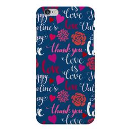 """Чехол для iPhone 6 Plus глянцевый """"День Св. Валентина"""" - день св валентина, валентинка, сердца, любовь"""