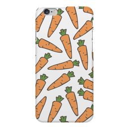 """Чехол для iPhone 6 Plus глянцевый """"Морковки"""" - морковь, овощи, лето, здоровье, веган"""