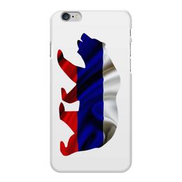"""Чехол для iPhone 6 Plus глянцевый """"Русский Медведь"""" - bear, медведь, русский, russian, флаг"""