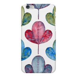 "Чехол для iPhone 6 Plus глянцевый ""Яркие листья"" - лето, растение, листья, яркие литья"