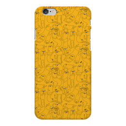 "Чехол для iPhone 6 Plus глянцевый "" Джейк Пёс. Время приключений"" - adventure time, время приключений, finn and jake, финн и джейк, джейк пёс"