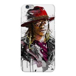 """Чехол для iPhone 6 Plus глянцевый """"Человек в шляпе"""" - человек, шляпа, очки, куртка, арт"""